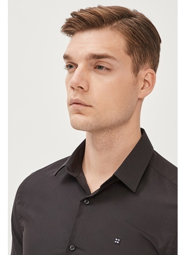 Avva Erkek  Oxford Gömlek E002002 Siyah
